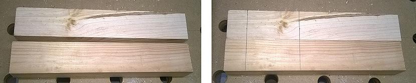 ścisk śrubowy - drewno
