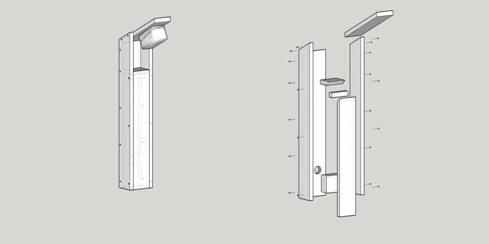lampy na podjazd - konstrukcja
