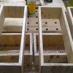 Stolik do frezarki górnowrzecionowej - korpusy szuflad