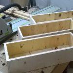 Stolik do frezarki górnowrzecionowej - budowa szuflad